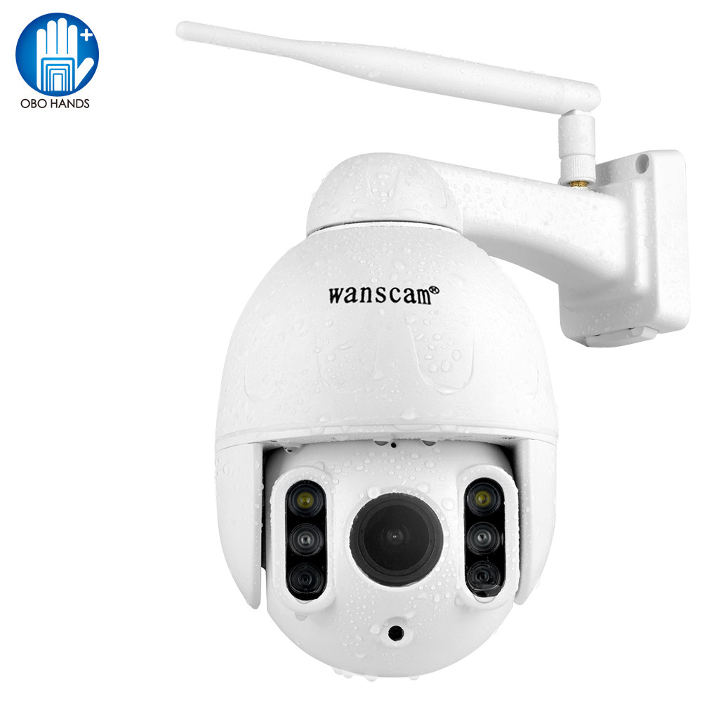 Wanscam IP Camera 1080P FHD Wireless WiFi 16X Zoom Motion Detection Face Auto-Tracking Waterproof Outdoor IR Night Vision 50M