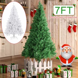 2,1 M/7 ft DIY árbol de navidad regalo de Año Nuevo flocado árbol de Navidad copo de nieve árbol de Navidad familia Hotel centro comercial Decoración