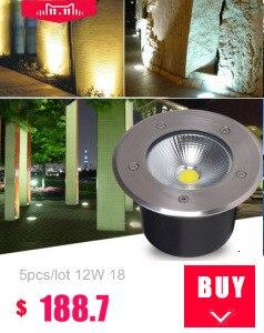 20 pçs novo led solar lâmpadas subterrâneas