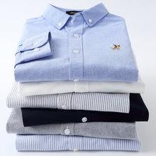Мужская хлопковая рубашка с длинным рукавом Повседневная стильная