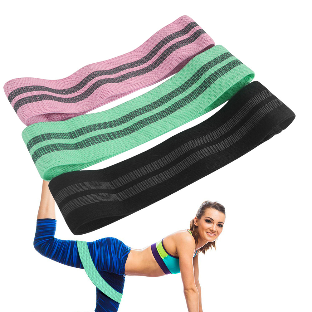 Yoga Elastic Band Pack Fitness Hip Ring Resistance Bands Fabric Hip Loop Healthy Hip Squat With Men And Women Antiskid Hip Ring