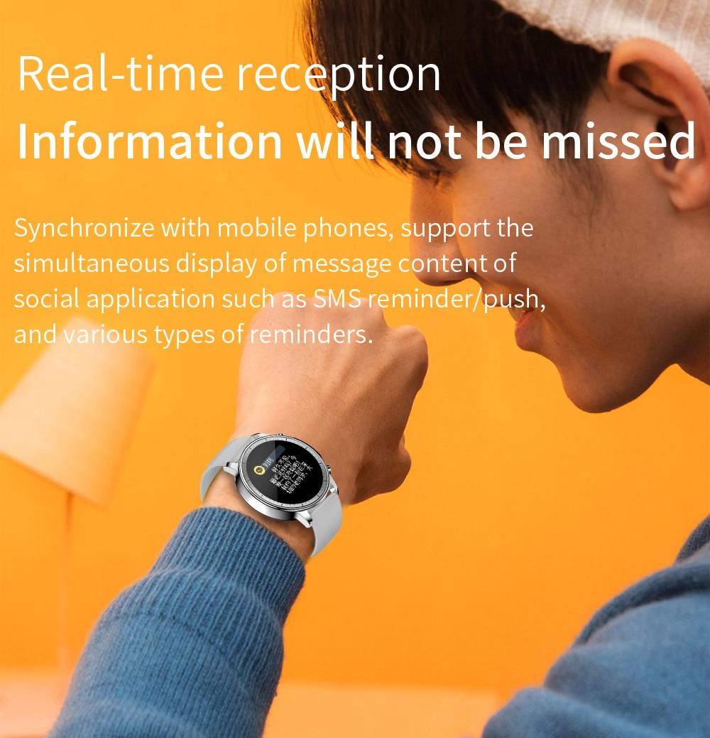 H9df5aebee7f84fa886506d1cc740a09fL COLMI V23 Women Smart Watch Full Touch Fitness Tracker IP67 Waterproof Blood Pressure Smart Clock Men Smartwatch