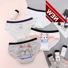 Cotton And Dog Painting Children From 12 To 20 Years Old, Daily Underwear Low Waist Childrens Calcinha Infantil