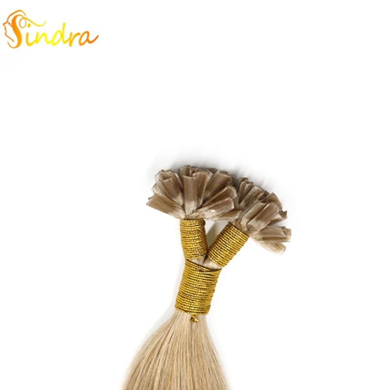 Sindra Human Hair Nail U Tip 100% Remy Human Hair Extensions 14