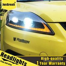 LED المصابيح الأمامية لفورد فوكس 2009 2013 LED النهار تشغيل أضواء ديناميكية إشارة ثنائية زينون منخفضة/عالية شعاع 1 زوج
