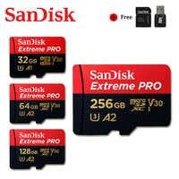 SanDisk Extreme Pro tarjeta Micro SD de 128GB 32GB 64GB 256GB 400GB U3 V30 4K de memoria tarjeta Flash Tarjeta de tarjeta Microsd SD/TF tarjeta para teléfono