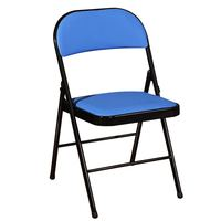 Steel Foldable Stools Back Chair Home Furniture Living Room Folding Stool Portable Dining Chair Small Stool Ottomans Step Stool