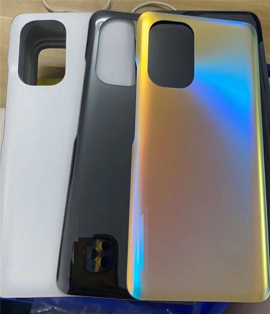 "K40 الإسكان ل شاومي Redmi K40 6.67 ""الزجاج غطاء البطارية إصلاح استبدال الباب الخلفي الهاتف الخلفي حالة شعار"