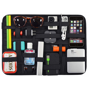 Elastic Storage Plate Board Organizer Case Data Cable Power Pack Charger Digital Cosmetics