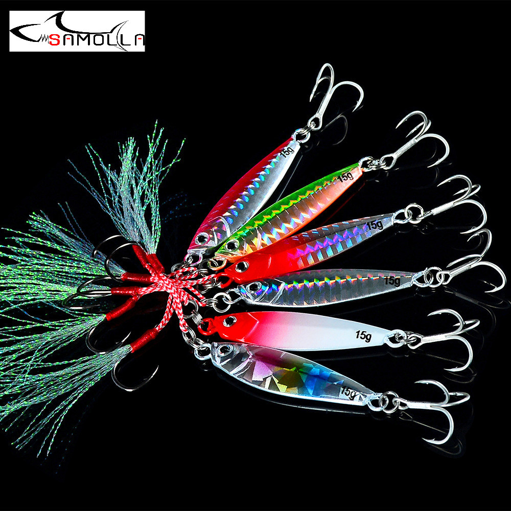 New Jig Fishing Lure Jigs Weights 7-30g Tackle Metal Jig Bass Fishing Bait Saltwater Lures Isca Artificial Articulos De Pesca