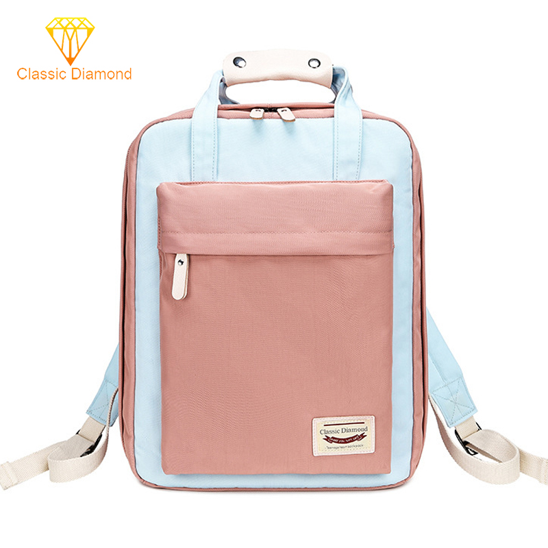 New Waterproof Nylon Fashion Backpack Girls For Middle School Student Travel Shoulder Backpacks Women Bagpack   Children Schoolb