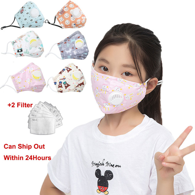 5pcs Unisex Cotton Mask Mouth Face Mask Anti PM2.5 Dust Female Mouth Mask Activated Carbon Filter Mask Flower Face Mask Washable 4