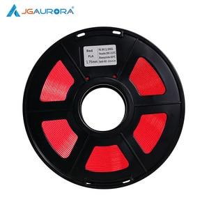 JGAURORA czerwony czarny Filament drukarka 3D PLA 1.75mm 1kg Filament z tworzywa sztucznego wiele kolorów do drukarek 3d Prusa i3/FDM