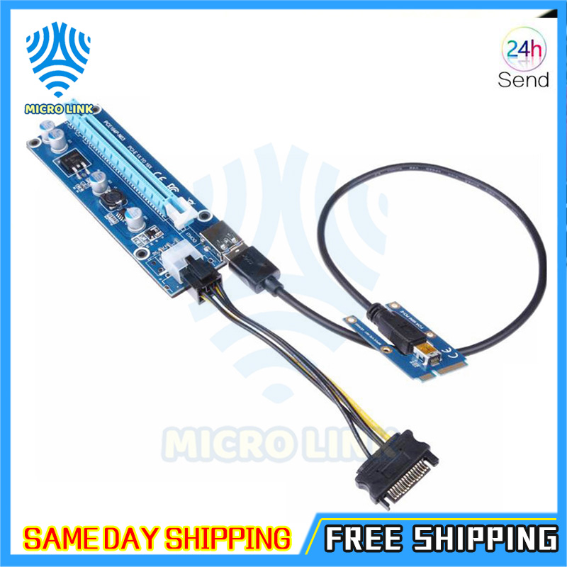 Mini PCIe to PCI express 16X Riser for Laptop External Graphics Card EXP GDC BTC Antminer Miner mPCIe to PCI-e slot Mining Card-1