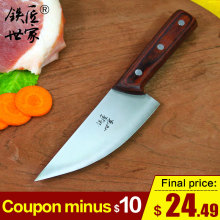 Cleaver butcher knife stainless steel chef slicing knife handmade forged fish meat knife kitchen knives ножи кухонные