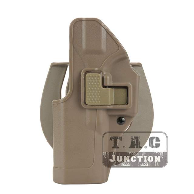 Tactical CQC Serpa Pistol Holster Concealment Quick Left Hand Waist Paddle Belt Loop Pistol Case Pouch For Glock 17 19 22 23 31