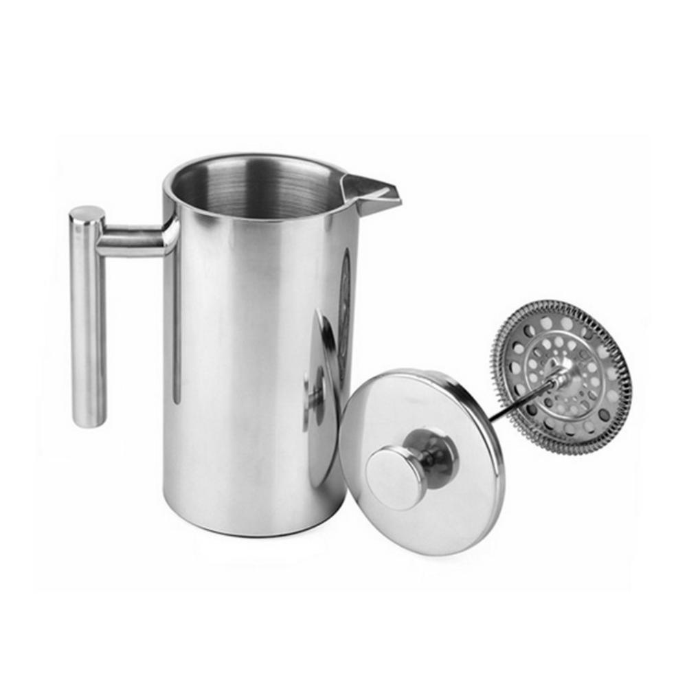 1000mlCoffee Maker French Press Stainless Steel Espresso Coffee Machine Double Wall Insulated Coffee Tea Maker Pot|Coffee Pots| |  -