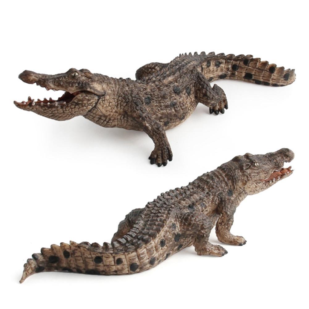 1pcs PVC 7.2inch Crocodile Figurine Animal Action Figure Toys Educational Creatures 14736