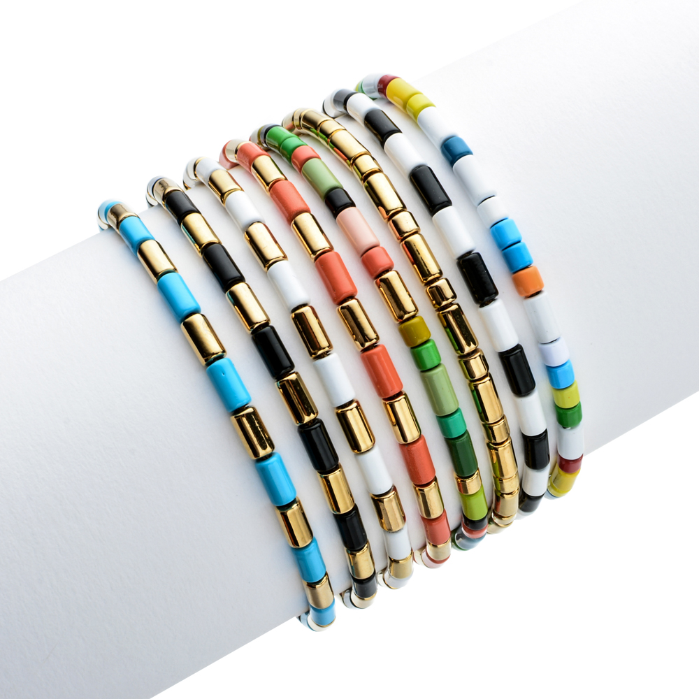 ZMZY Boho Enamel Bangle Bracelets for Women Bohemian Fashion Charm Friendship Bracelet Female/Men Accessories Gifts