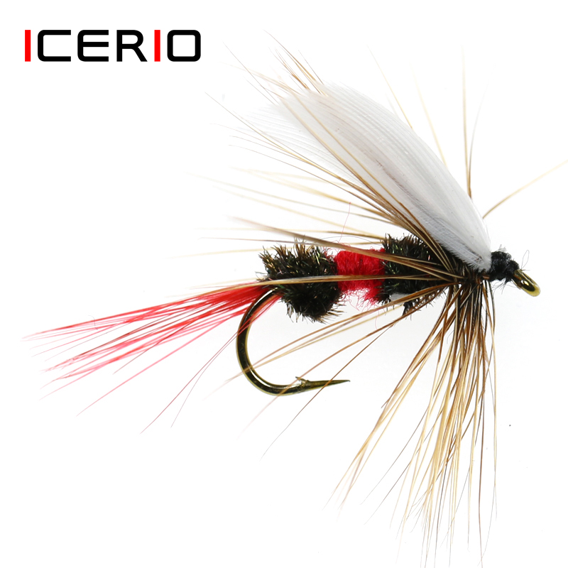 ICERIO 6PCS Royal Coachman Dry Flies Trout Fly Fishing Lures