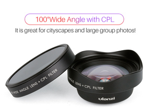 Image 4 - ULANZI Anamorphic Lens Universal Lens Wide angle lens with CPL filter Fisheye Lens Telephoto Lens for iPhone Andriod Phones