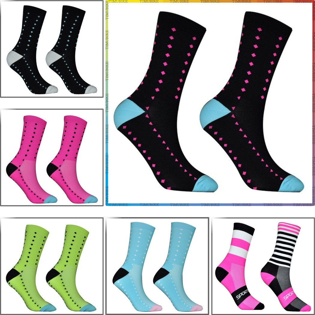 2020 Pro Team Men Cycling Socks Knee-high MTB Bicycle Sports Socks High Quality Outdoor Fitness Sports Sock Running Socks