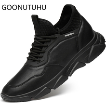 2019 style fashion men's shoes casual genuine leather male flats sneakers height increasing shoe man nice platform shoes for men forudesigns women fashion high top flats shoes cool skull design female height increasing platform shoes for teenage girls shoes