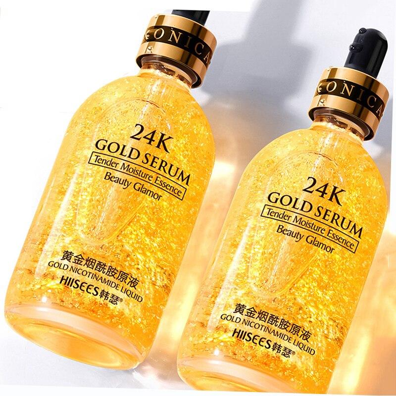 30ml Makeup Primer 24K Gold Liquid Essence Oil Control Anti Wrinkle Eyes Face Care Cosmetics Skincare Moisturizing Make Up Base