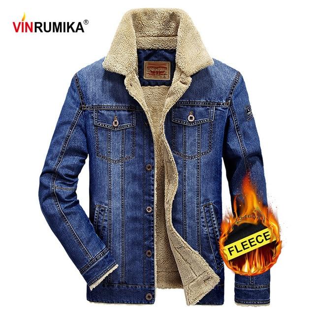 2020 בתוספת גודל M 6XL חורף גברים של אופנה מזדמן סגנון צמר חם קאובוי מעיל מעיל גבר אביב סתיו ג ינס כחול מעילי מעילים