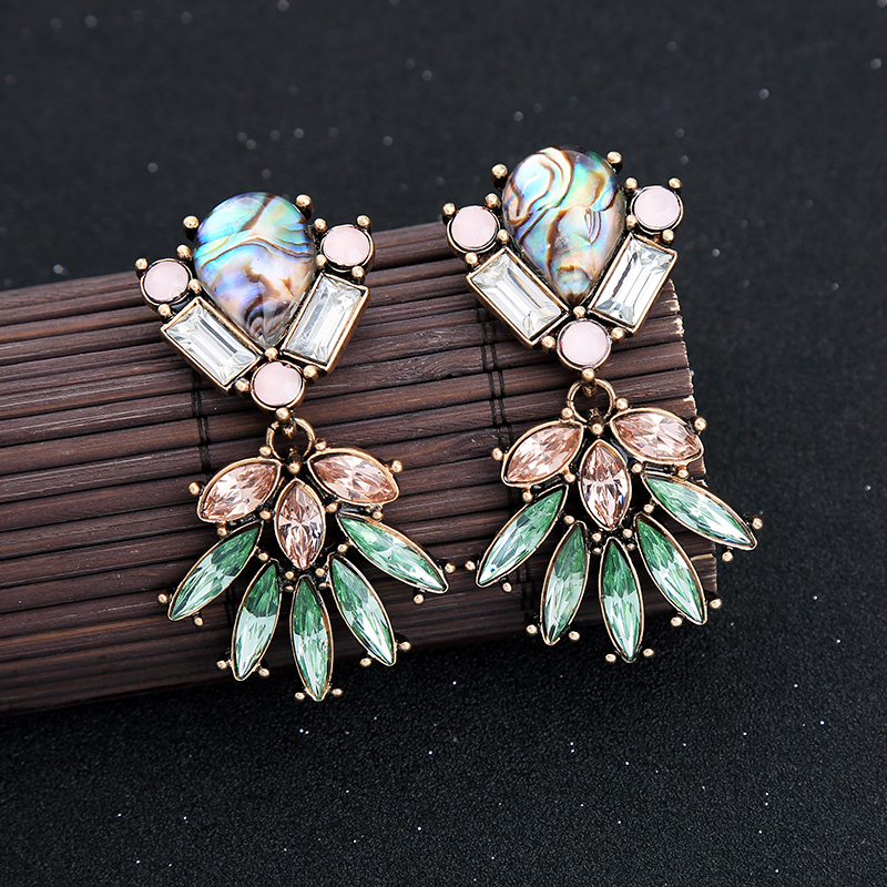 kissme Vintage Style Drop Earrings For Women Delicate Crystal Clearance Sale Earrings Big Discount New Fashion Jewelry Wholesale(China)