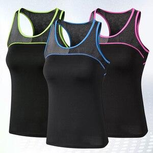 2021 novas mulheres colete esportivo de fitness respirável yoga superior workout tanque superior sexy esporte t camisa das mulheres correndo xxl esporte topo