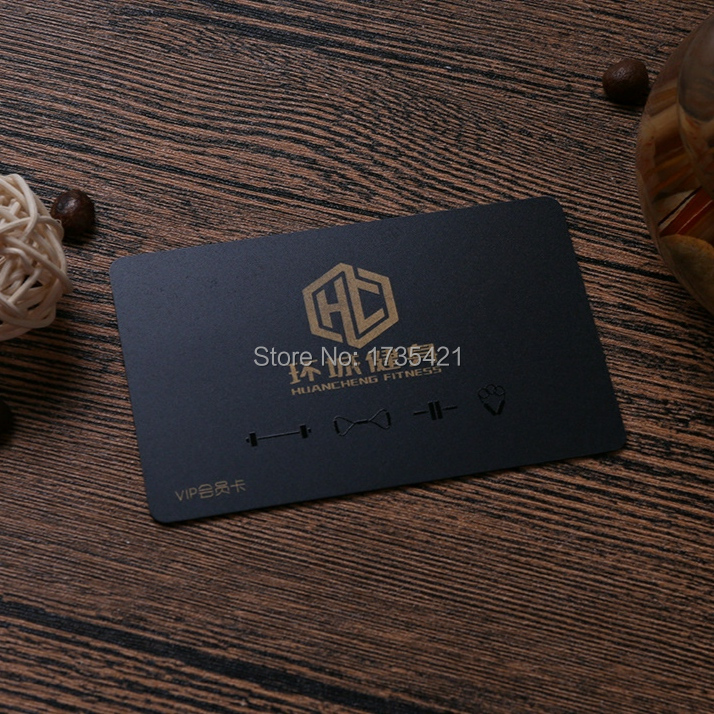 Luxury Colorful Custom Printing VIP Membership Black PVC Card With Laser Foil Stamping And Spot UV