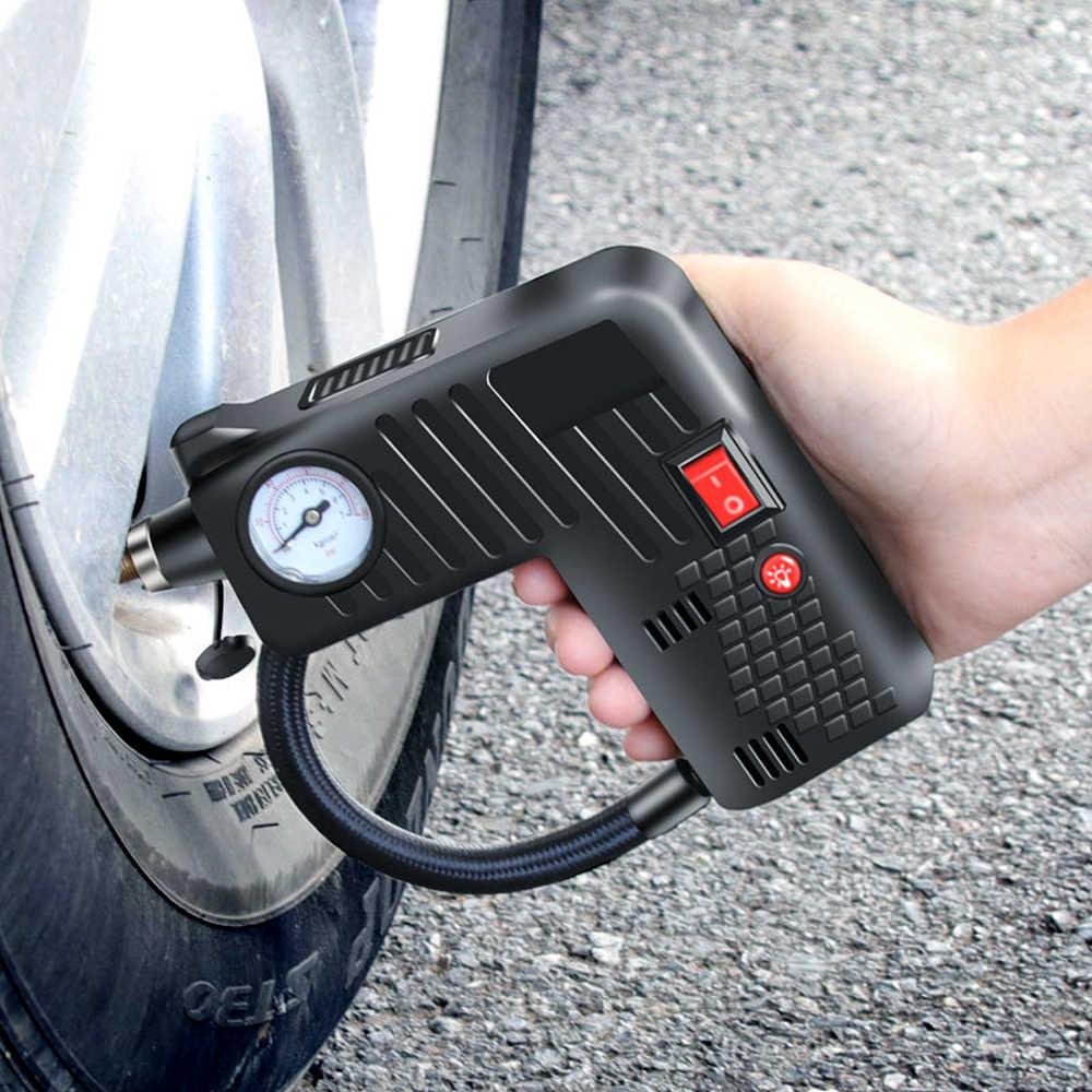 Inflador de coche 12 voltios compresor de aire portátil del coche bomba compresor de aire del coche para el coche motocicletas bicicletas