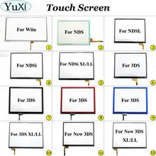 YuXi Touch Screen Glass Digitizer Lens Replacement for Nintend DS Lite for NDSL NDSi XL LL for New 3DS XL Touch screen pane