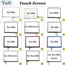 YuXi pantalla táctil de cristal digitalizador para Nintendo DS Lite, para NDSL NDSi XL II, para New 3DS XL, panel de pantalla táctil