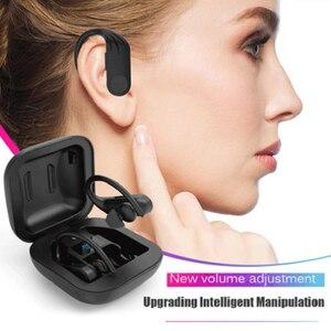 Image 2 - B1 TWS LED سماعات بلوتوث سماعة رأس لسماع الموسيقى الأعمال سماعة أذن واقي أذن رياضي الحد من الضوضاء يعمل على جميع الهواتف الذكية