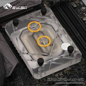 Image 3 - Bykski CPU Water Cooling Block Radiator use for AMD Ryzen3000 AM4 AM3 X399 1950X TR4 X570 Motherboard /Transparent Acrylic A RGB