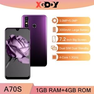 Смартфон XGODY A70s 3G на Android 7,2, четыре ядра, экран 9,0 дюйма, 1 Гб + 4 Гб