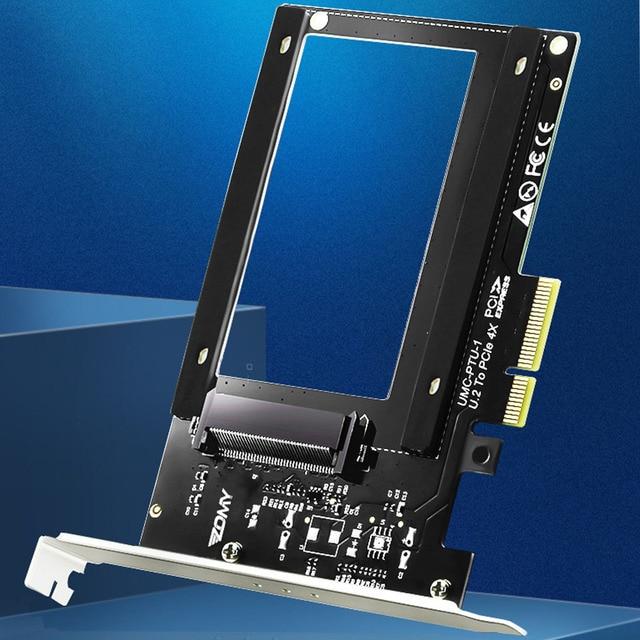 U.2 to PCI E X4 Riser Card PCI Express to U.2 Adapter Board PCI E to SSD Hard Drive Converter Card for 2.5 Inch SATA HDD