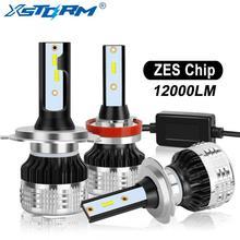 2Pcs H4 H7 Led H1 H11 H8 H3 HB4 HB3 H27 Led Met Zes Chips Canbus Auto Koplampen 80W 12000LM Auto Lamp Automobiles