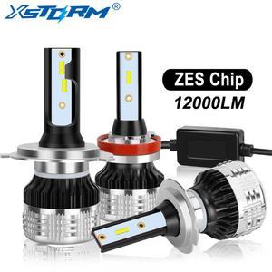 Image 1 - 2Pcs H4 H7 Led H1 H11 H8 H3 HB4 HB3 H27 Led עם ZES שבבי Canbus רכב פנס נורות 80W 12000LM אוטומטי מנורת מכוניות