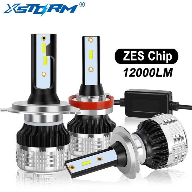2Pcs H4 H7 Led H1 H11 H8 H3 HB4 HB3 H27 Led עם ZES שבבי Canbus רכב פנס נורות 80W 12000LM אוטומטי מנורת מכוניות