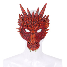 1pc Colour Animal Dragon Party Mask Halloween Gift Cosplay Adults Full Face 3D High-quality Masks