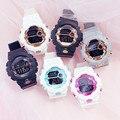Цифровые Аналоговые часы конфетных цветов  стильные детские электронные часы  студенческие часы  спортивные цифровые часы  светодиодный во...