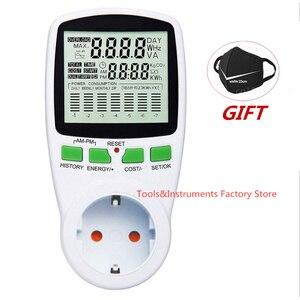 Digital LCD Energy Meter Wattmeter Wattage Electricity Kwh Power Meter EU French US UK AU Measuring Outlet Power Analyzer