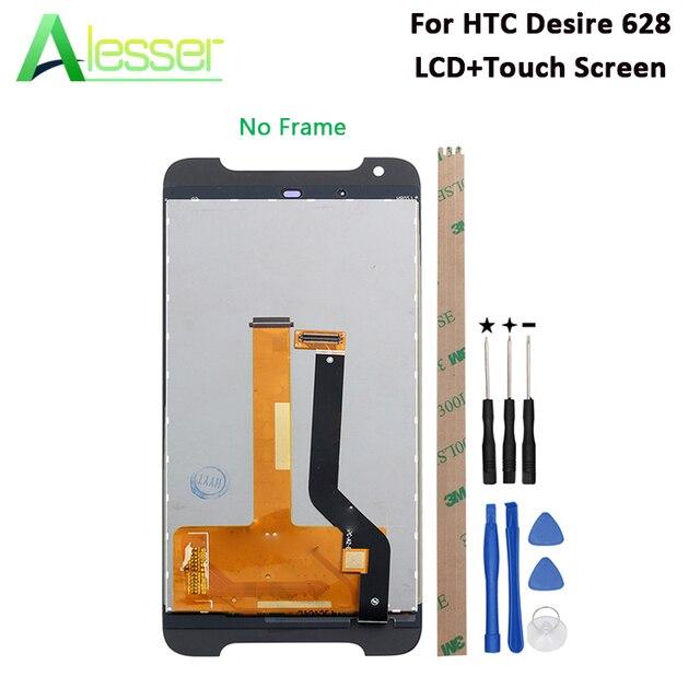Alesser Per HTC Desire 628 Display LCD E di Tocco Dello Schermo di 5.0 Testato Assembly Per HTC Desire 628 dual sim telefono + Strumenti + Adesivo