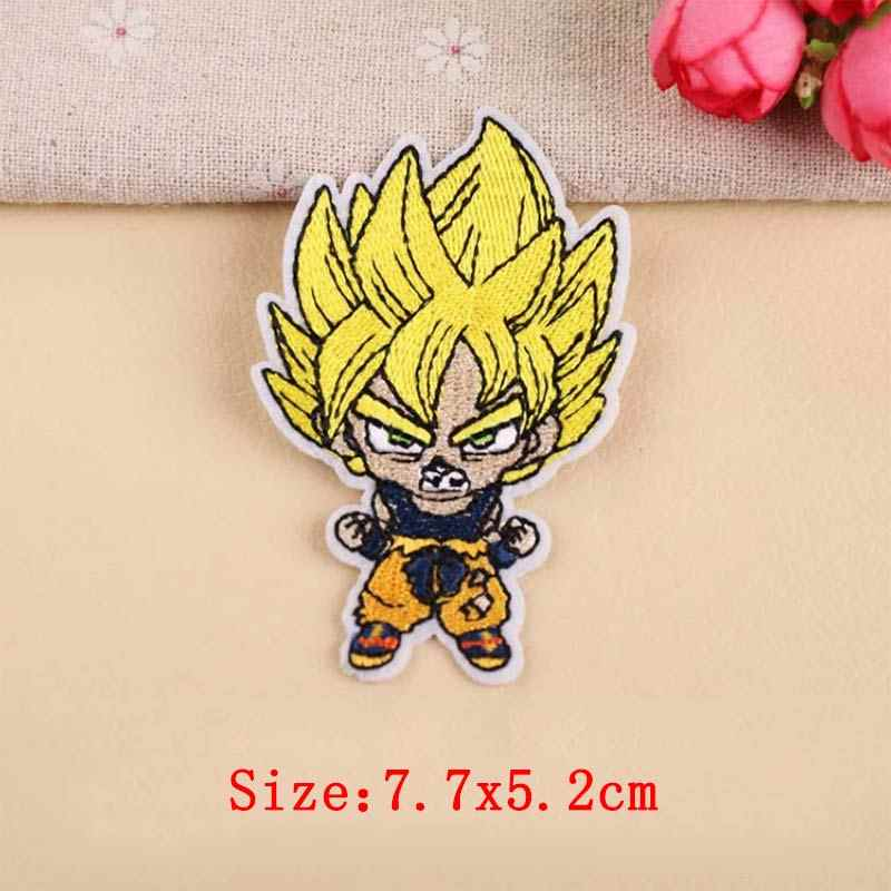 DIY Anime Dragon Ball Goku Patch Stitch Bages Iron On Patches For Clothing Embroidered Patches For Clothes Cute Stickers Garment