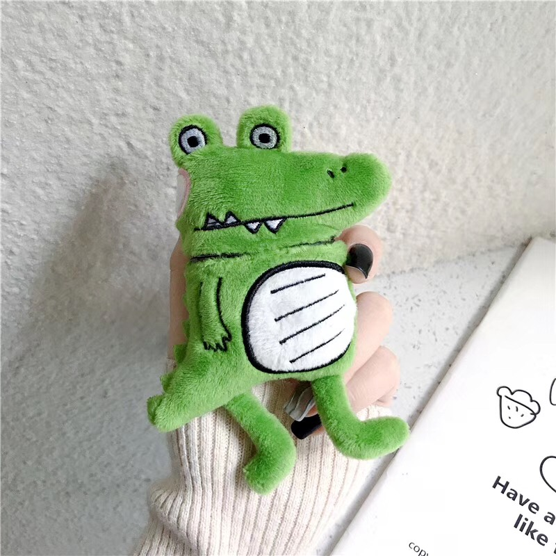 Cute Frog Dinosaur Doll For Apple Airpods 2 Cover Funny Cartoon Earphone Case Charging Box Silicone Cases For Airpods 1 Case