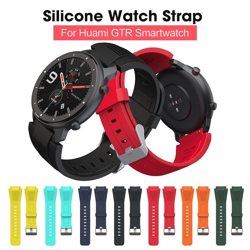 SIKAI 22mm Silicone Watch Strap For Huami Amazfit GTR 47mm Replacement Watch Band For Samsung Gear S3 For Huawei GT Watch Belt