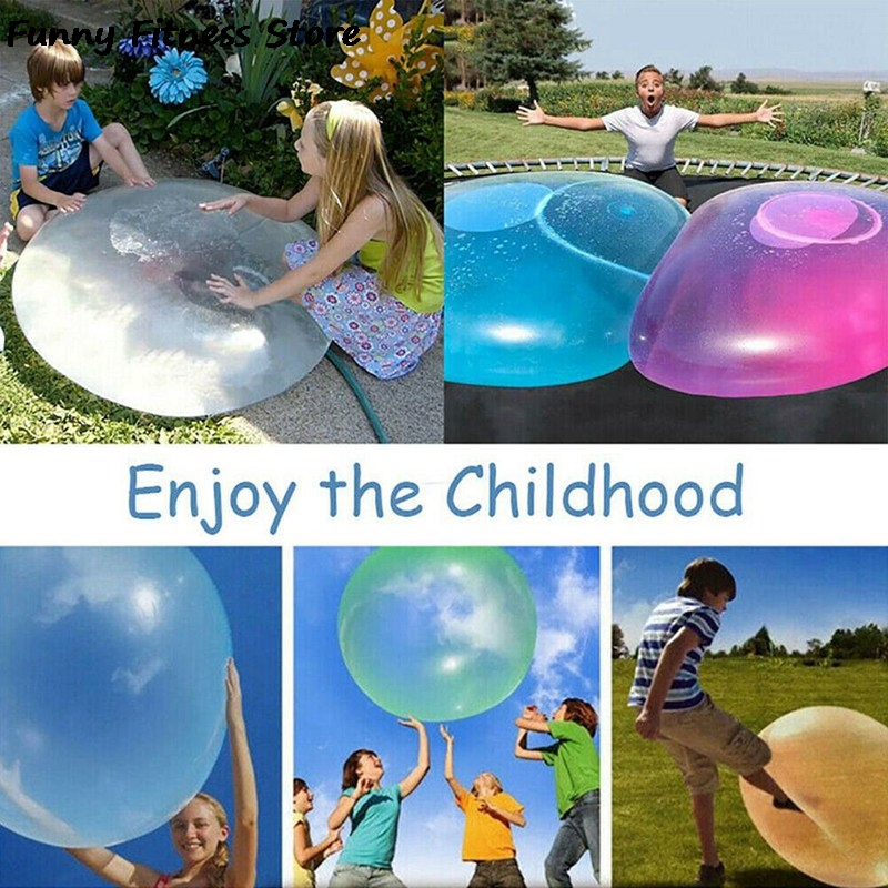 120cm Water Filled Bubble Ball Summer Beach Swim Pool Balloons Balls Outdoor Games Children Adult Inflatable Garden Soft Round